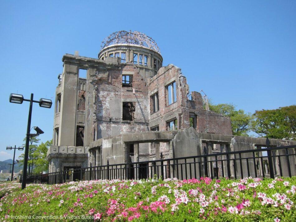 El antiguo Pabellón para la Promoción Industrial, la única estructura cercana al punto de impacto de la boma de Hiroshima que se mantuvo en pie