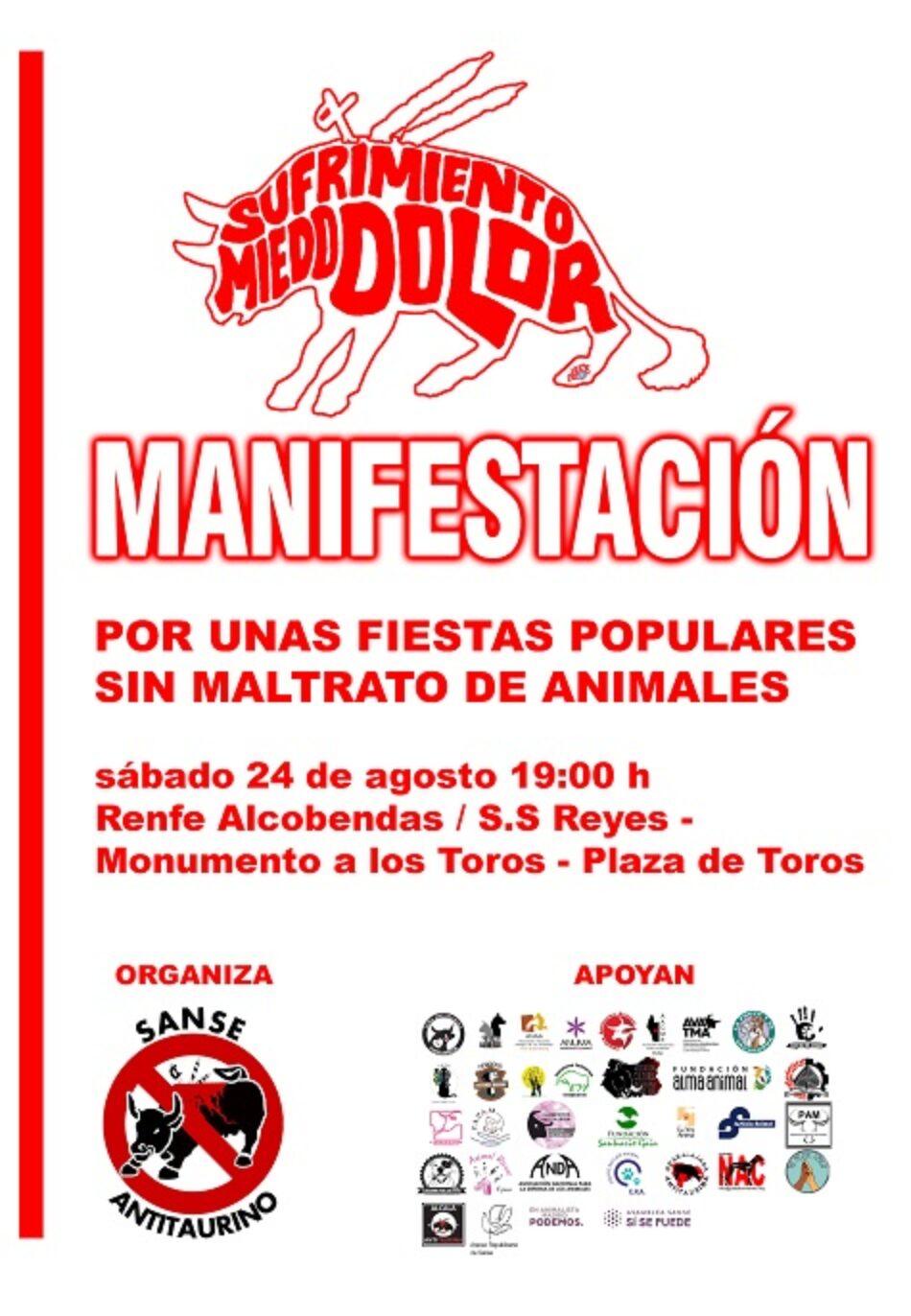 Manifestación Sanse Antitaurino: «por unas fiestas sin maltrato de animales»