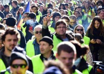 Jornada de protesta 40ª de Los Chalecos amarillos en Francia