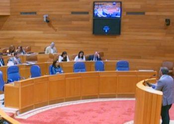 Espantada de Feijóo durante el debate parlamentario de la Ley de Patrimonio Natural de Galicia
