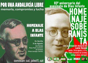 Homenajes a Blas Infante en el 83º aniversario de su asesinato: 9 y 10 de agosto