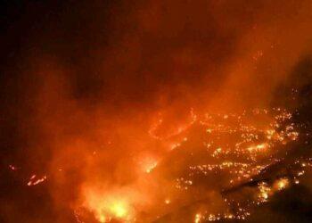 Ocho mil  personas evacuadas como consecuencia del incendio de Gran Canaria, que sigue fuera de control