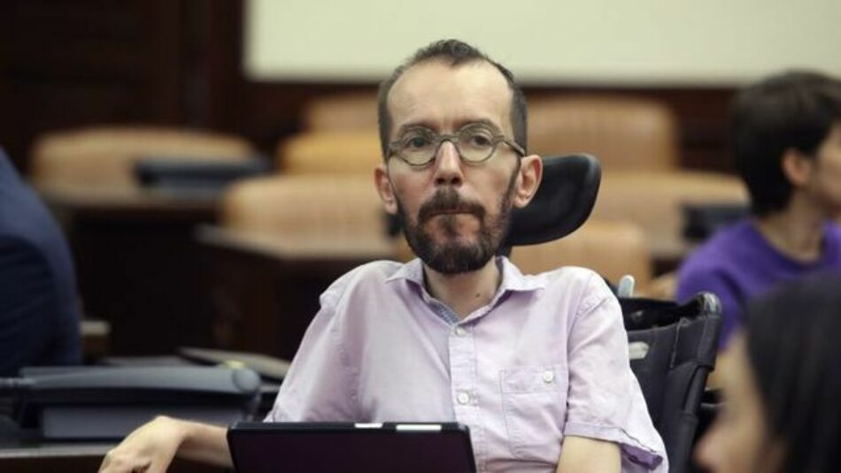 Echenique: «¿Por qué lleva el PSOE las negociaciones con Unidas Podemos al último minuto?»