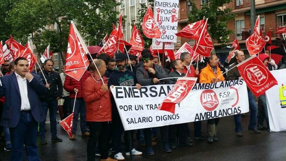 La plantilla de Emersan inicia una Huelga en el Servicio de Ambulancias en Castilla y León