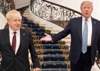 Trump escenifica su apoyo a Boris Johnson anunciando un inminente acuerdo comercial con Reino Unido