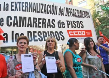 CCOO apoya las movilizaciones de las camareras de piso por unas condiciones de trabajo dignas
