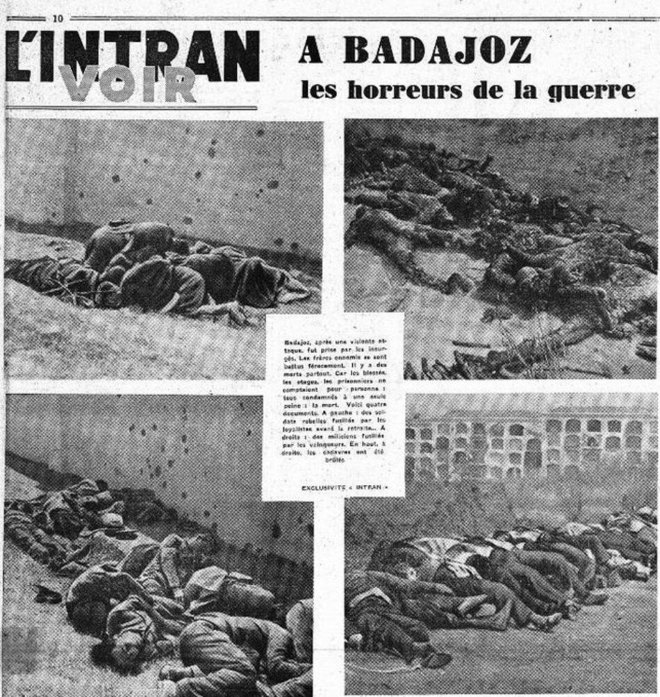 Tres jornadas recordarán esta semana la matanza de Badajoz: PSOE, PP, C´s y Vox ausentes del homenaje a las víctimas