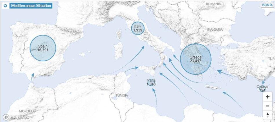 ACNUR preocupado por las nuevas medidas que afectan al rescate en el Mediterráneo central