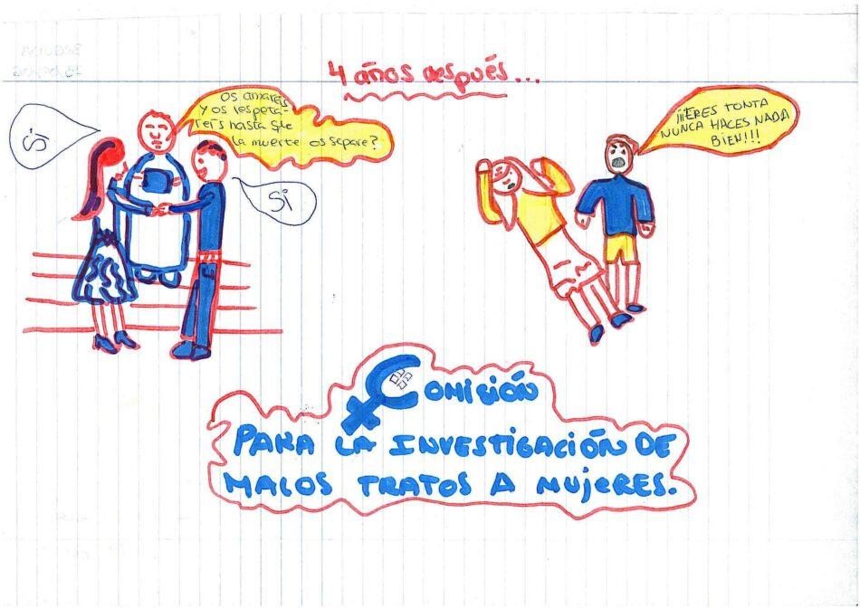 Llega a Madrid la exposición de dibujos de menores víctimas de violencia de género organizada por la Comisión para la Investigación de Malos Tratos a Mujeres