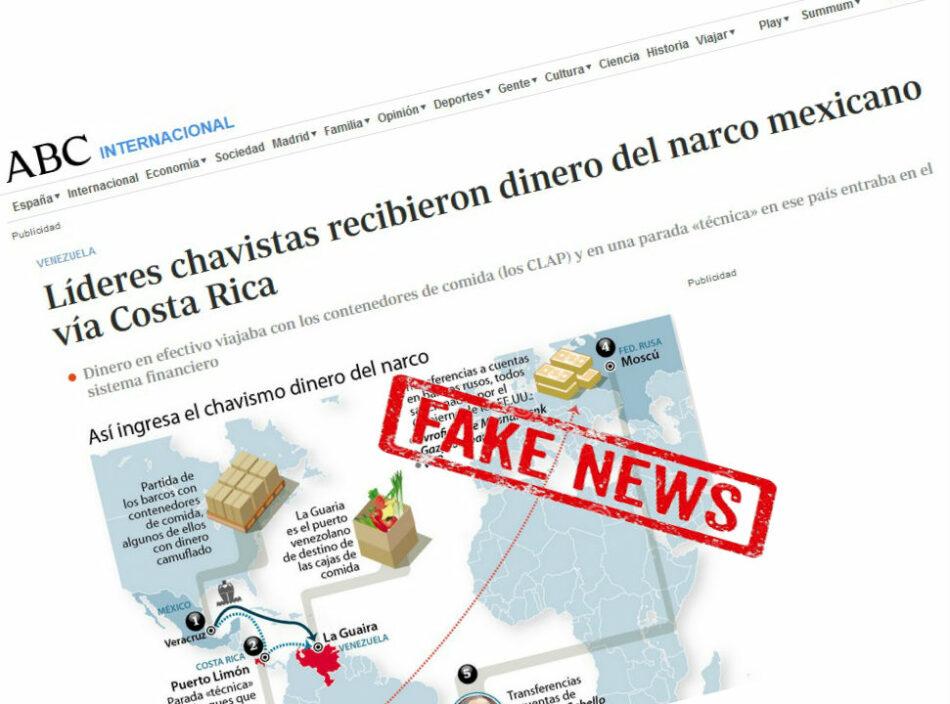 La Embajada de Venezuela reclama al diario ABC sus patrañas informativas contra Venezuela
