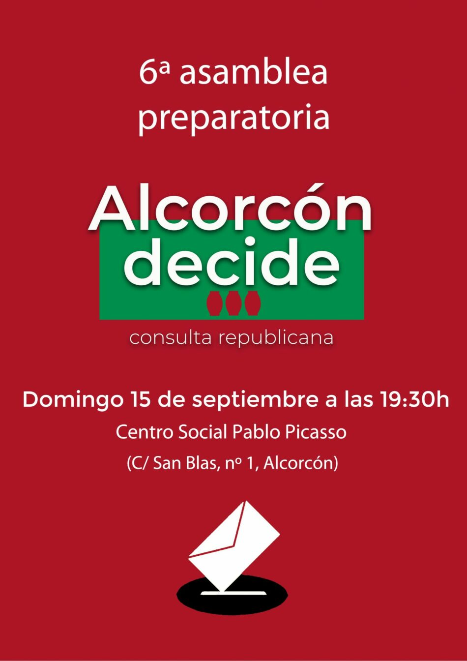 Alcorcón Decide prosigue su actividad a pesar del boicot de la derecha