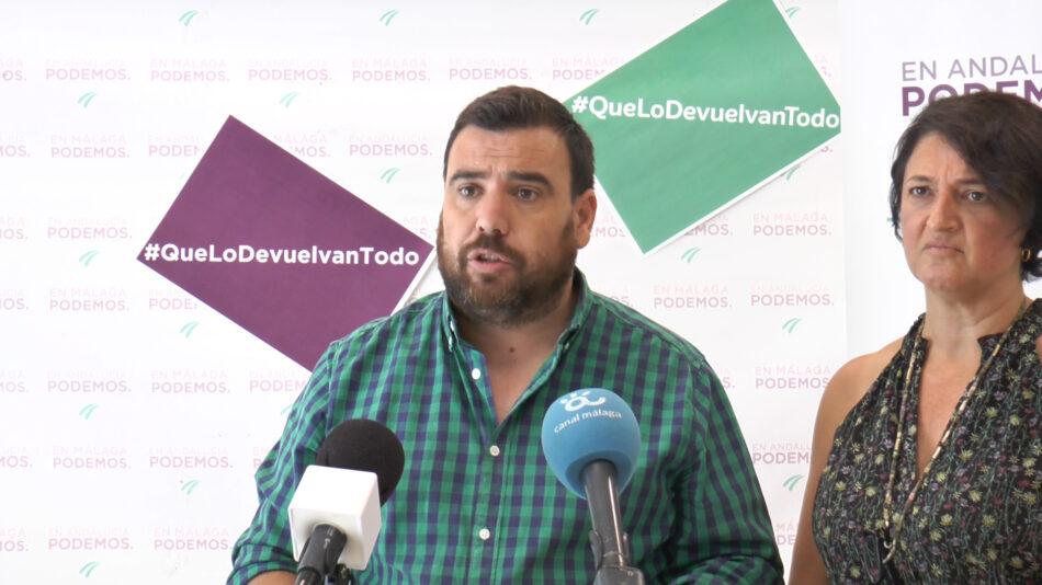 Podemos exige limitar por Ley el precio del alquiler y crear parques públicos de vivienda asequible en la provincia de Málaga