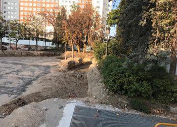 Ecologistas en Acción denuncia que las obras de remodelación de la Plaza de España están matando decenas de árboles adultos