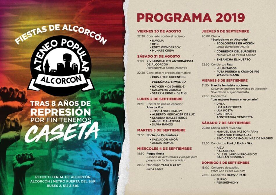 El Ateneo Popular de Alcorcón consigue poner caseta en las fiestas patronales tras ocho años de exclusión