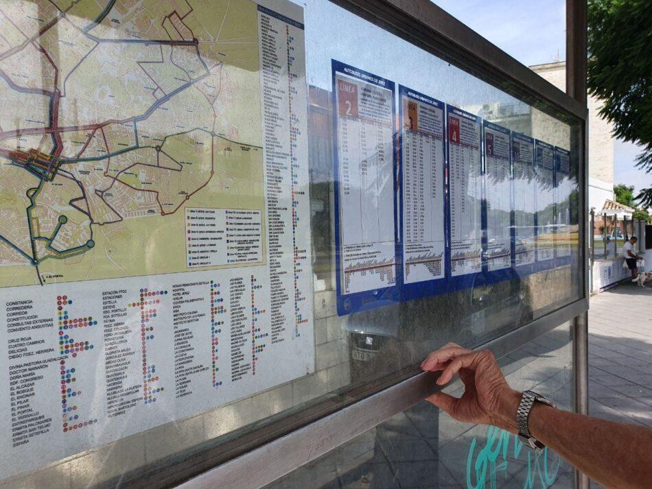 Adelante Jeréz reclama un formato accesible para los horarios de autobuses urbanos