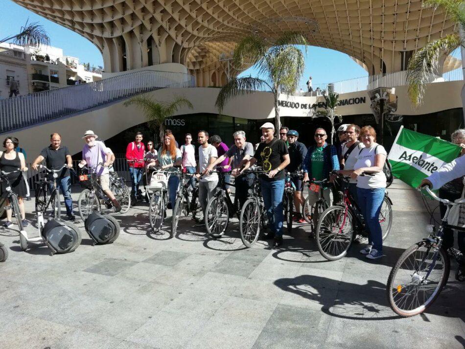 Adelante Sevilla exige a la Junta los fondos del Plan Andaluz de la Bicicleta