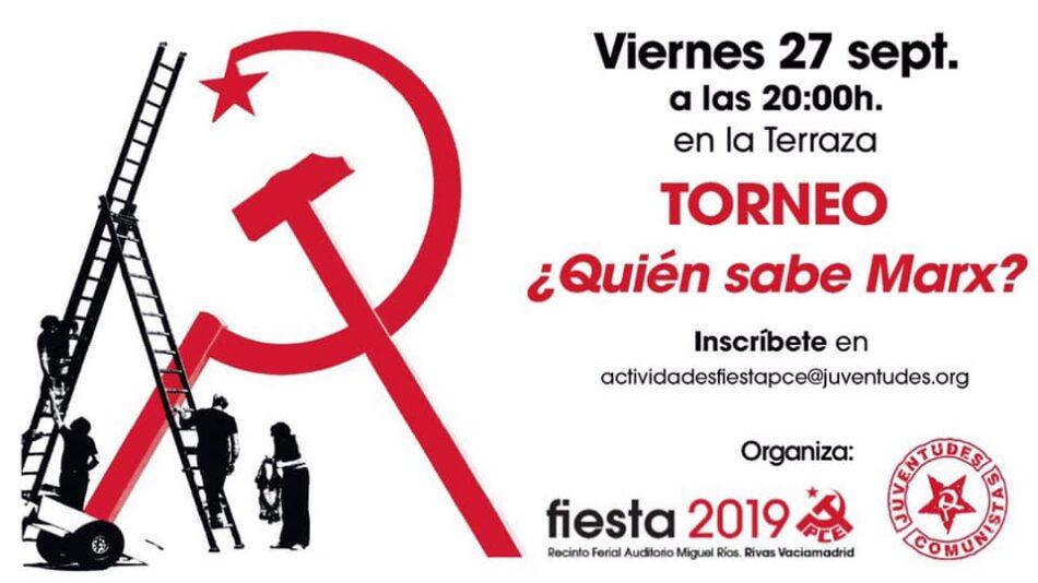 Nuevas actividades y charlas organizadas por la Juventud Comunista se incorporan al cartel de La Fiesta del PCE