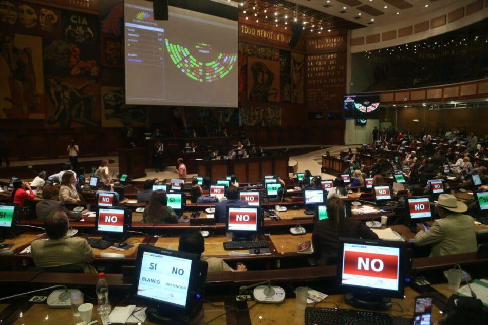 La Asamblea Nacional de Ecuador impide la despenalización del aborto en caso de violación