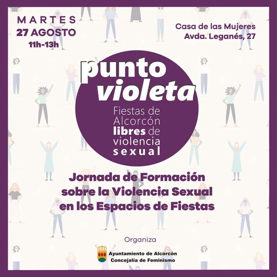 El Ayuntamiento de Alcorcón instala un punto violeta en las fiestas patronales frente a posibles agresiones machistas