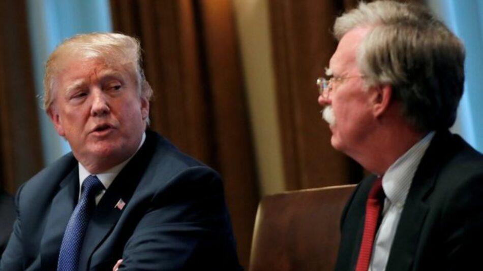 Trump expone sus discrepancias con su ex asesor de Seguridad Nacional John Bolton