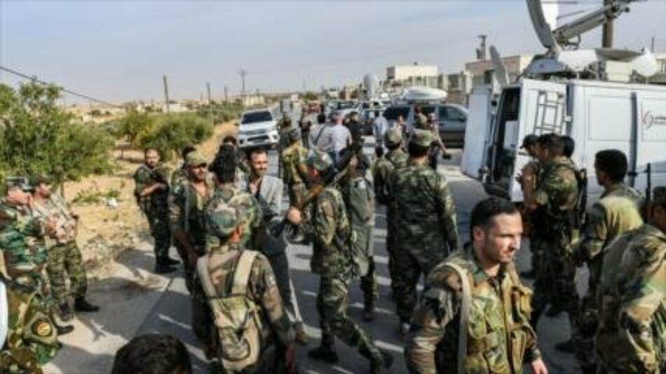 Ejército sirio toma una base militar de EEUU en Manbij