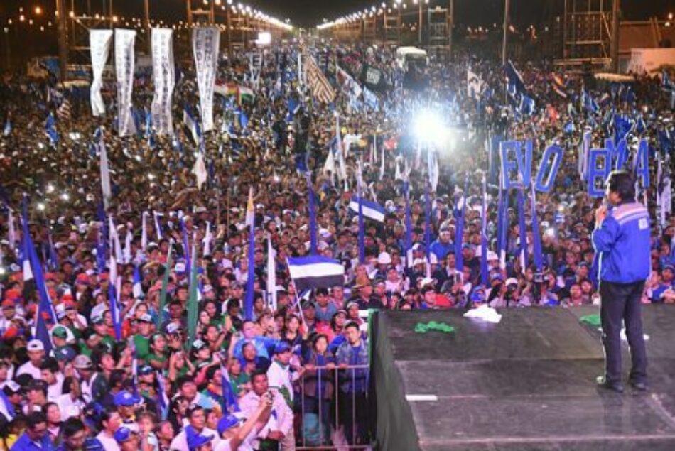 Bolivia. Evo cerró la campaña en Santa Cruz ante una multitud