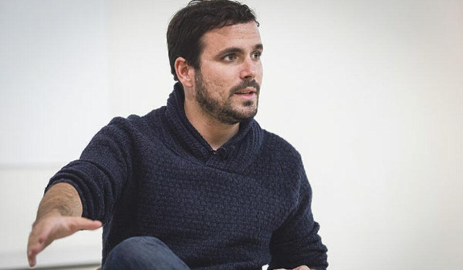 """Alberto Garzón: """"Tras el 10N, IU debe ofrecer a todo lo que hay a la izquierda del PSOE un proyecto de unidad"""""""