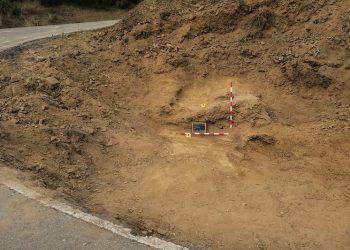 Fosa en Geras (León) fue demolida durante la construcción de la carretera LE-473