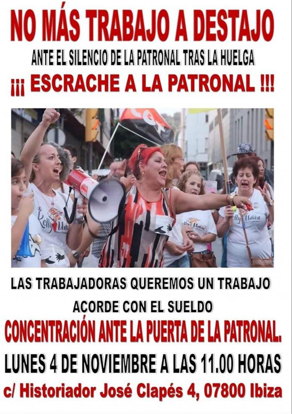 Las «Kellys» convocan una concentración el 4 de noviembre frente a la sede de la patronal hotelera en Ibiza