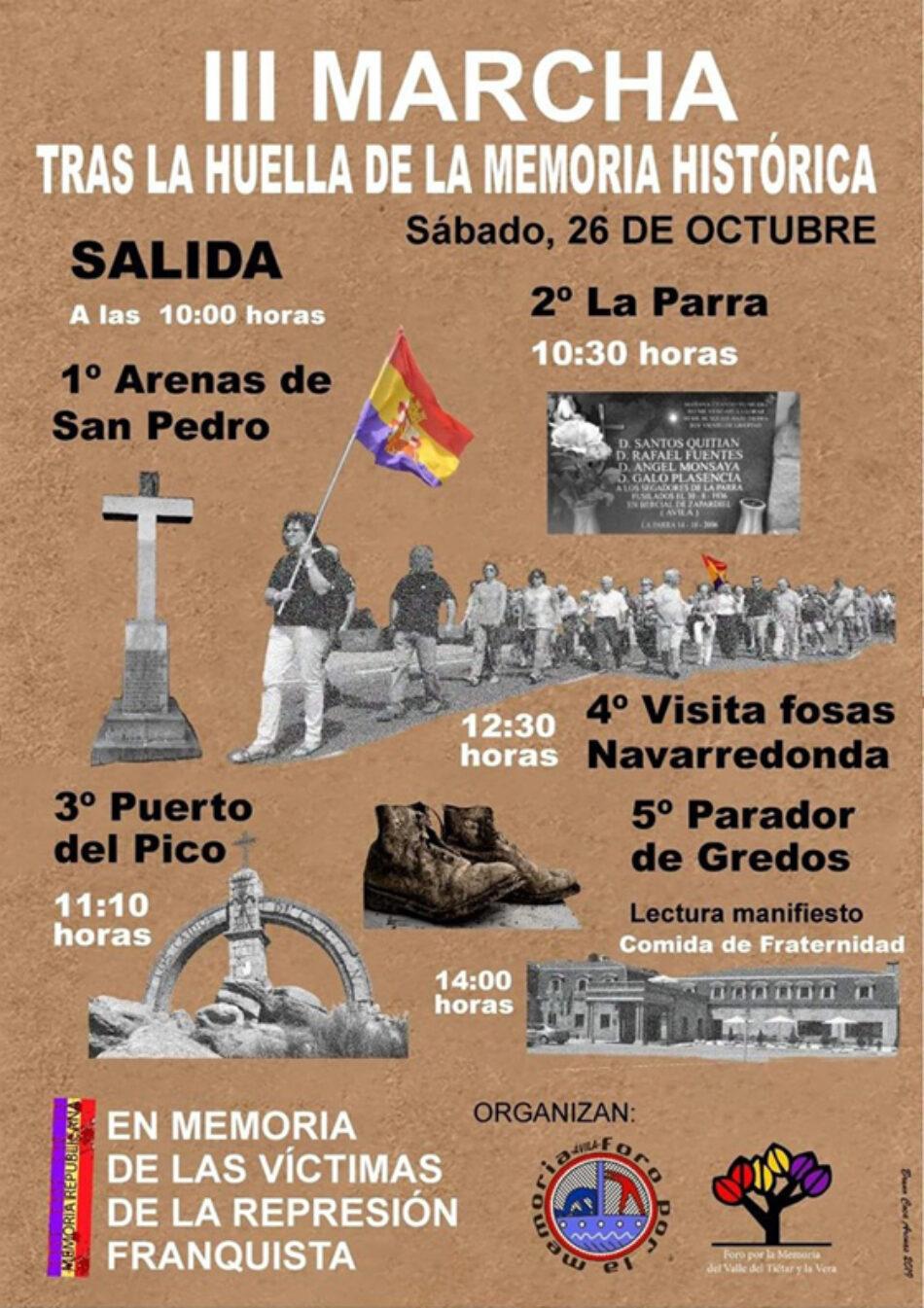 III Marcha «tras la huella de la Memoria Histórica»