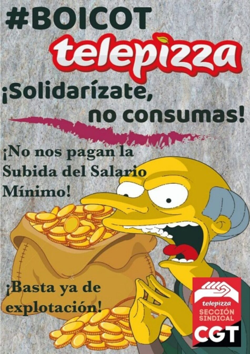 Las plantillas de Telepizza llaman al boicot contra la empresa por unas condiciones laborales dignas