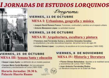 I Jornadas de Estudios Lorquinos (Octubre-noviembre 2019) Floren Dimas, conferencia