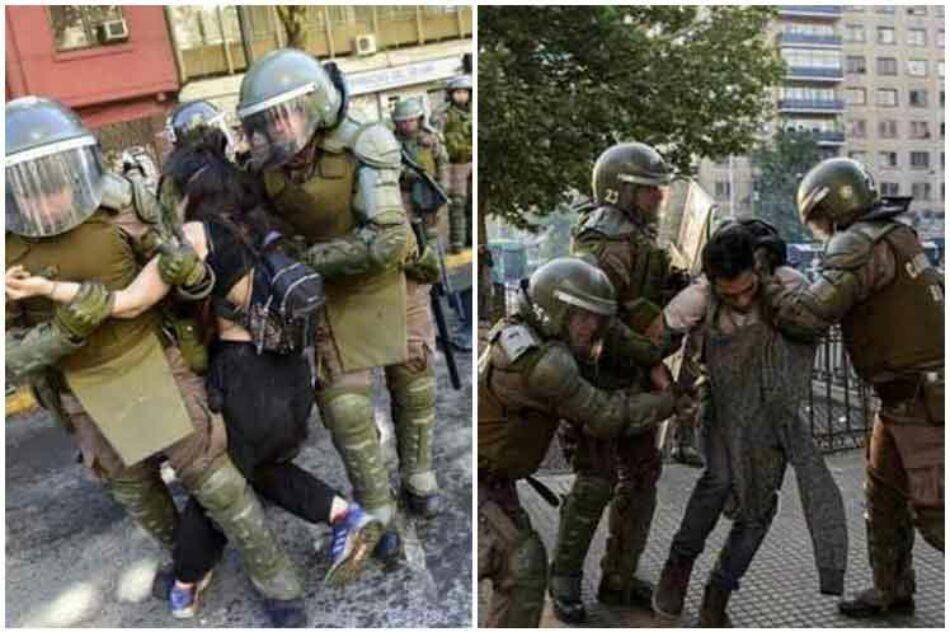 Cuestionan acciones de carabineros de Chile contra manifestantes
