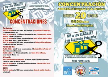 Carabanchel, Usera y Villaverde se mueven en defensa de la Atención Primaria y el Hospital 12 de Octubre