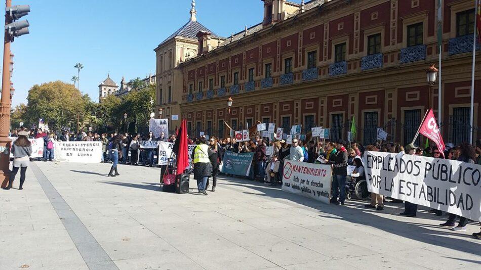 Personal interino del Ayuntamiento de Sevilla en Huelga el próximo 24 de octubre