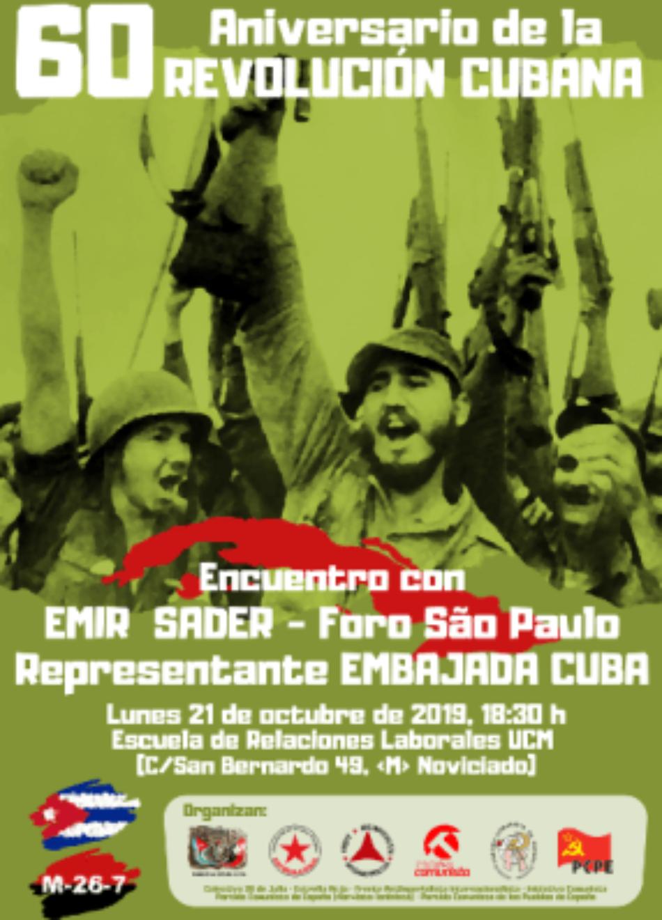 60 aniversario de la Revolución Cubana. Emir Sader en Madrid