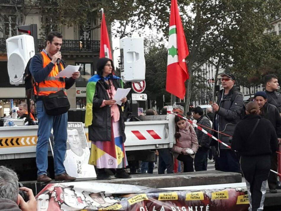 Manifestación en solidaridad con el Rif en París
