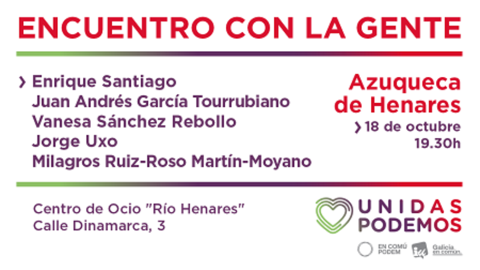 Enrique Santiago interviene mañana en el acto de presentación de las candidaturas de Unidas Podemos al Congreso y Senado por Guadalajara