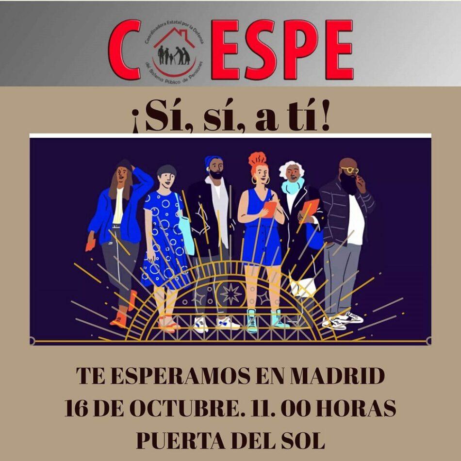 CGT se suma a las movilizaciones en defensa del Sistema Público de Pensiones el próximo 16 de octubre