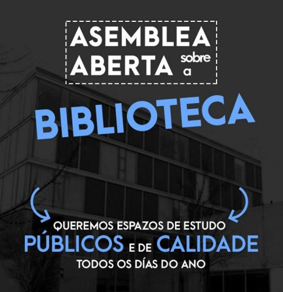 Os estudantes de Ourense mobilizámonos en defensa das bibliotecas e dos espazos públicos de ensino