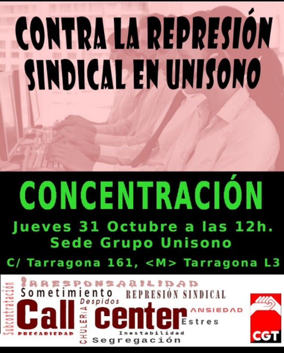 Paros en Unísono Barcelona ante la represión sindical contra la CGT