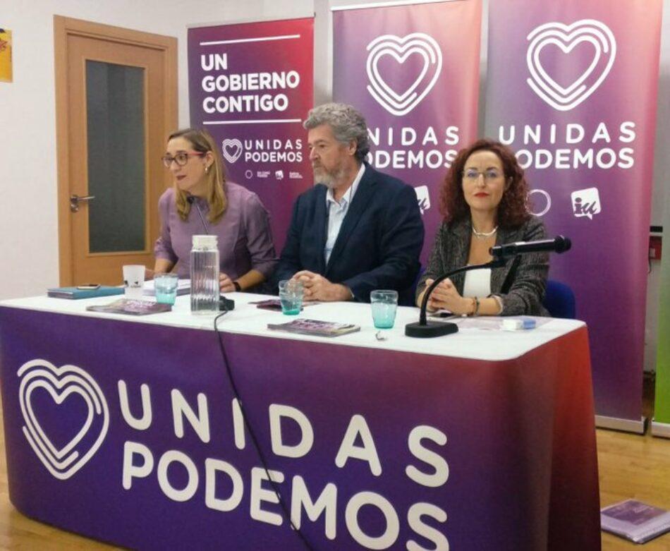 Unidas Podemos presenta en Valladolid su plan Horizonte Verde para revitalizar la España vaciada