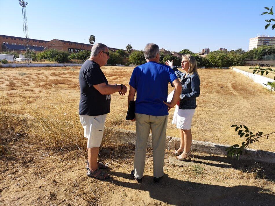 Adelante denuncia la situación del antiguo campo de fútbol de Marqués de Contadero, propiedad de la Federación Andaluza y ubicado en la calle Francisco Buendía