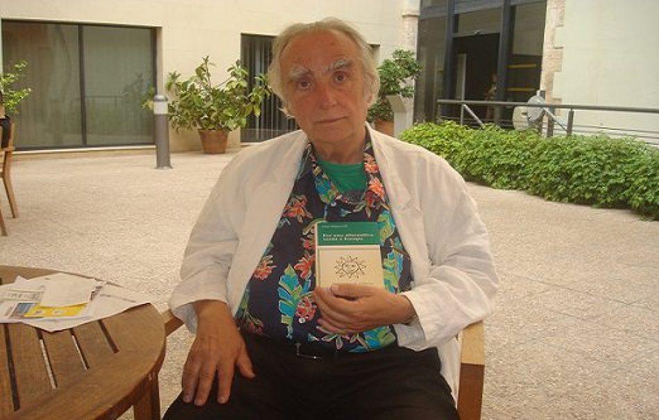 """Frieder Otto Wolf: """"El gran sujeto contaminante no son los consumidores, sino la industria, los estados y el aparato militar"""""""