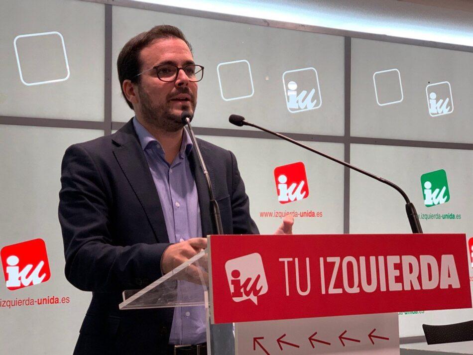 """Garzón llama a """"restablecer el diálogo"""" para abordar el conflicto catalán ante la """"irresponsabilidad"""" de Sánchez o la actuación de Torra """"que es parte del problema"""""""