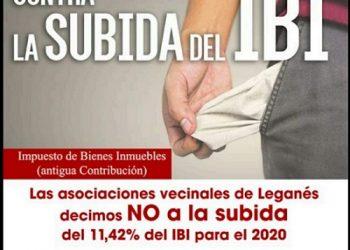 Las asociaciones vecinales llaman a movilizarse contra la subida del IBI en Leganés