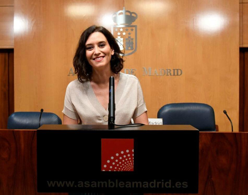 La Plataforma contra la Impunidad de Franquismo exige la dimisión inmediata de la Presidenta y Vice-Presidente de la Comunidad de Madrid