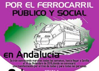 El 3 de noviembre, tercera etapa de las marchas en defensa del ferrocarril público y social andaluz