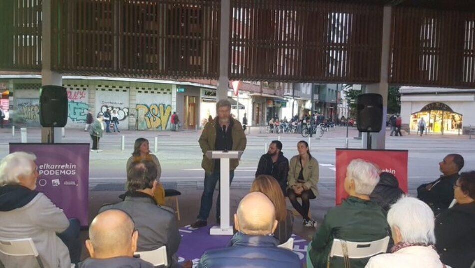 López de Uralde advierte en Vitoria Gasteiz de la deriva derechista del PSOE