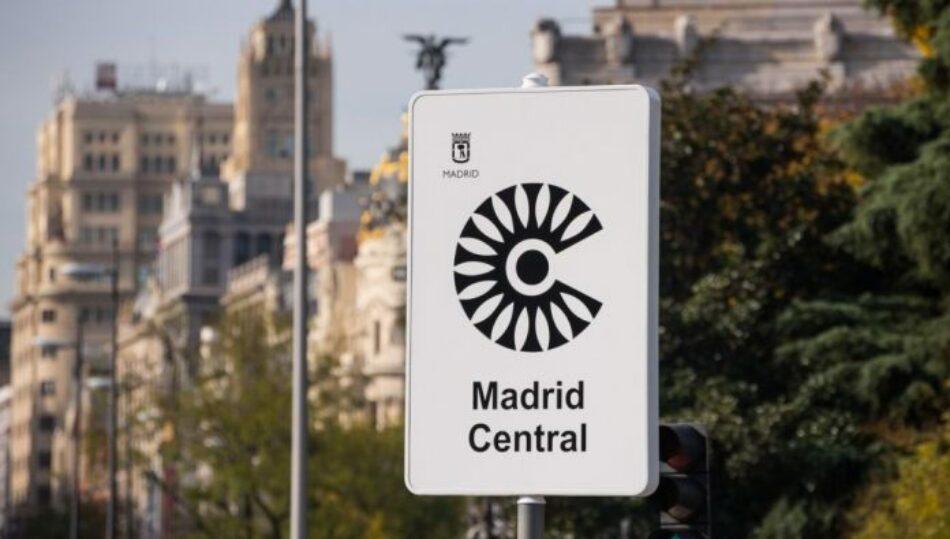 Un informe de Ecologistas en Acción muestra que Madrid Central continúa rebajando los niveles de contaminación en septiembre